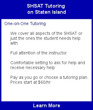 SHSAT Tutoring Staten Island
