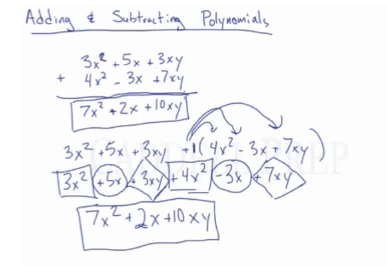 Add & Subtract Polynomials