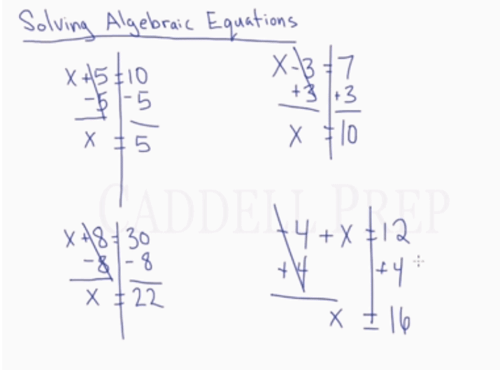 Solving Algebraic Equations One-Step