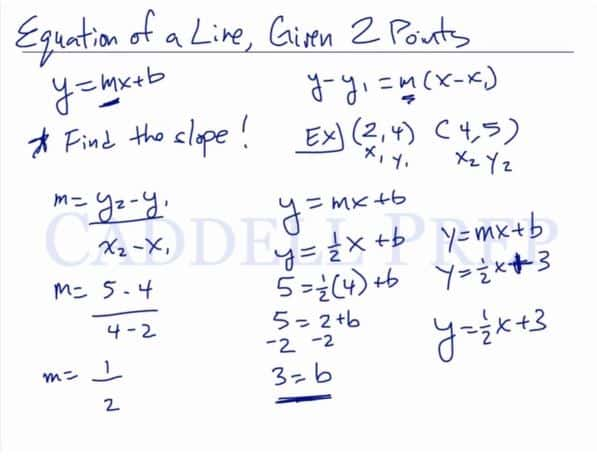 Finding the Equation of a Line 2