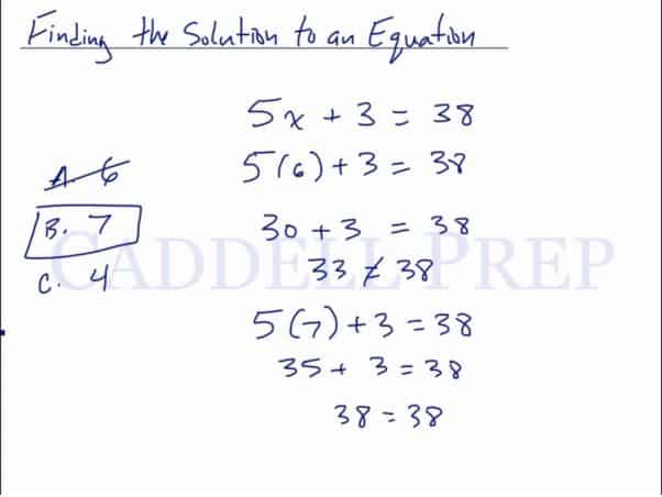 Finding the Solution to an Equation