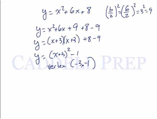 Vertex Form Of A Quadratic Equation