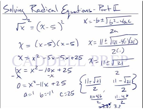 Solving Equations That Have Radical Terms 2