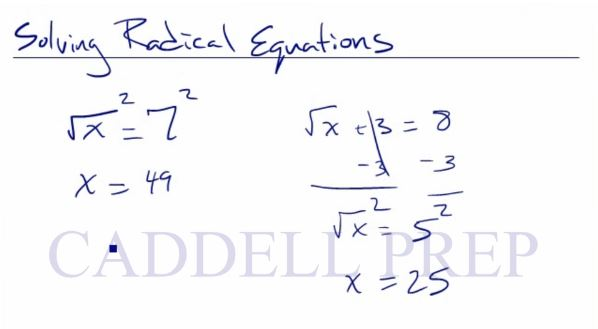 Solving Equations That Have Radical Terms