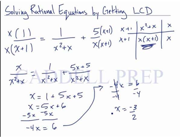 Solving Rational Equations by Getting LCD