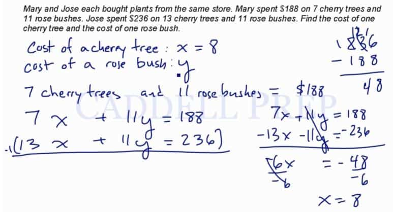 Word Problems – System of Equations