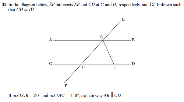 Geometry Regents Sample Part III Question