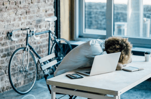 Student asleep at desk