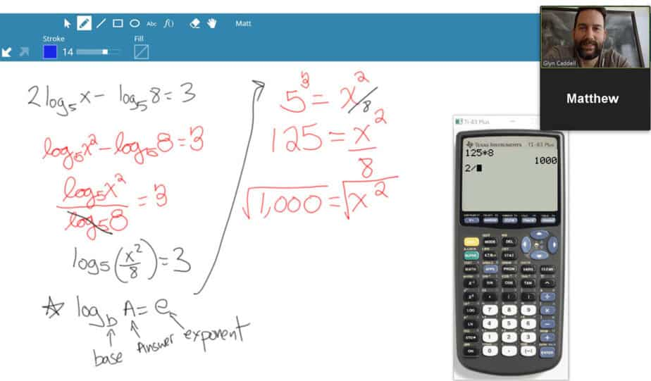 Live Video Tutoring for Math